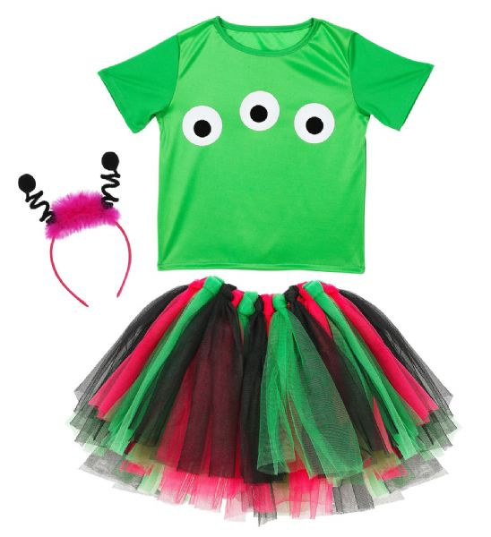 Adults ALIEN Fancy Dress Kit Set Halloween Space Monsters Fancy Dress